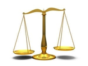 Gold libra scales zodiac sign