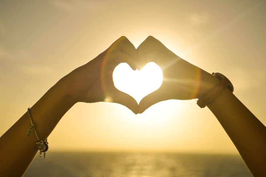 Heart hands for love rather than fear