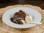 Chocolate Pudding Cake is tender chocolate cake surrounded by a rich fudgy chocolate sauce.