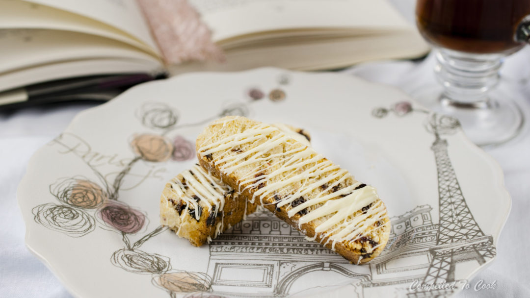 Pink Peppercorn Cherry Biscotti are sweet and crunchy with a hint of pepper.