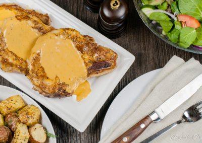 Pork Chops with Hard Cider Sauce