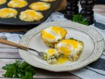 Quinoa Spinach Egg Cups have a crispy spinach, cheese and quinoa cup filled with an egg and baked with cheese.
