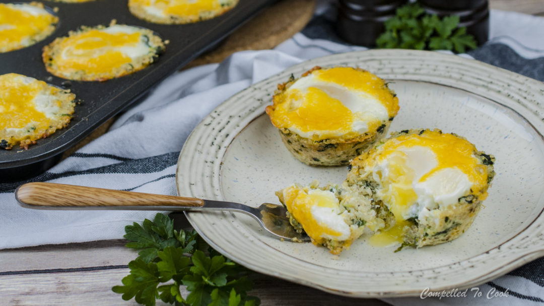 Quinoa Spinach Egg Cups