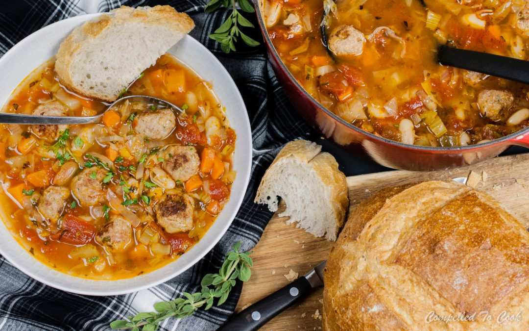 Zesty White Bean and Meatball Soup