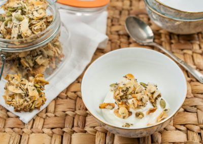 Seed and Almond Coconut Clusters