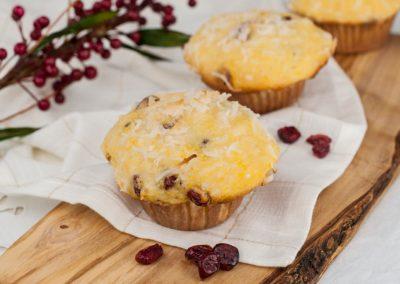 Coconut Cranberry Pumpkin Muffins