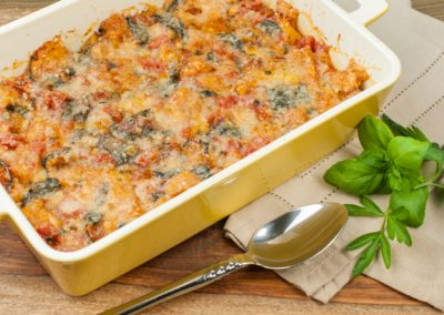 Rustic Tomato Spinach Bake