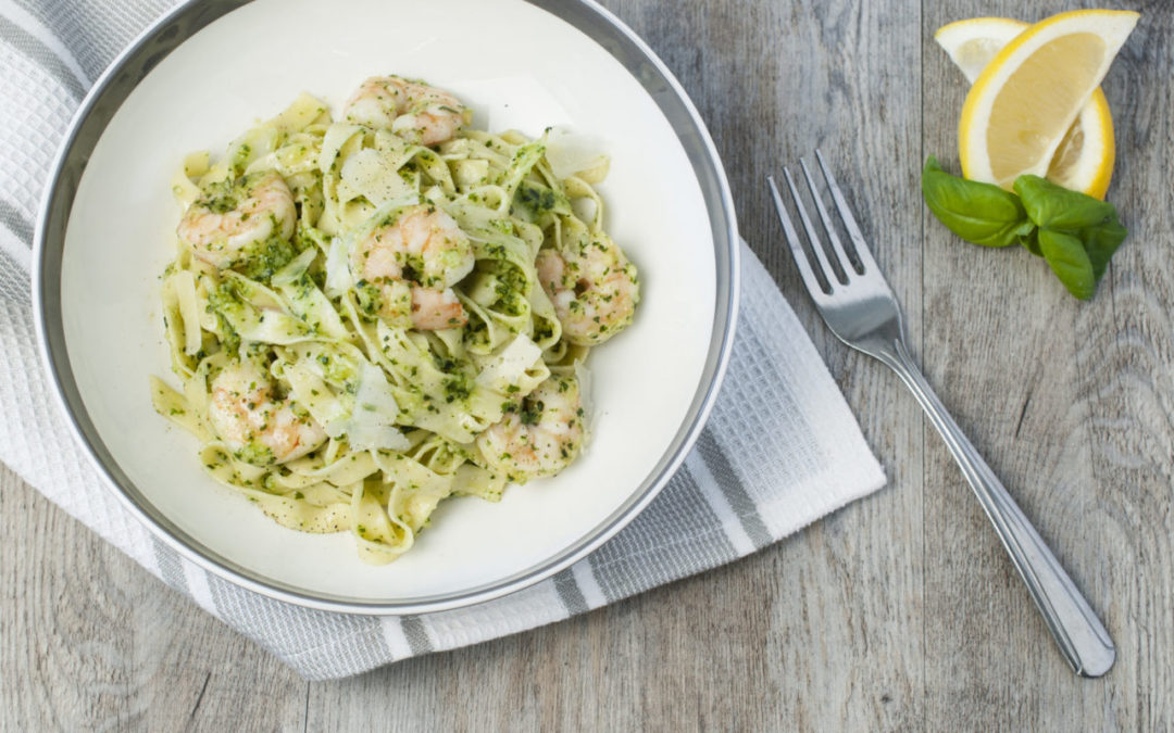Shrimp and Pesto Pasta