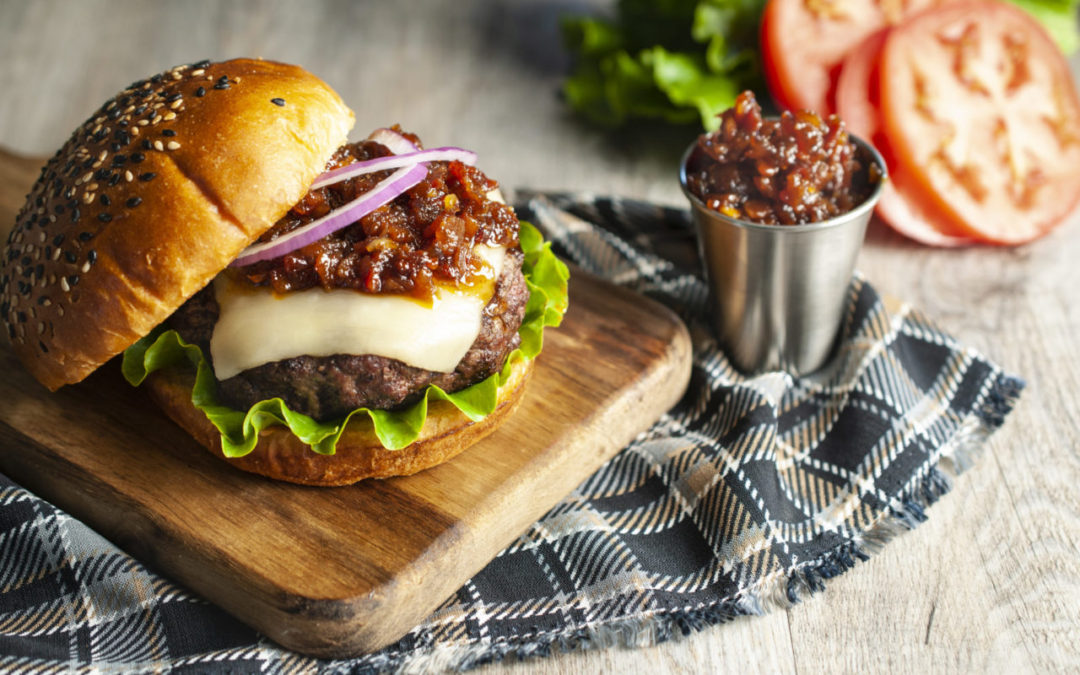 Bacon Jam Mozza Burger