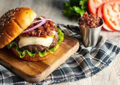 Bacon Jam Mozza Burger