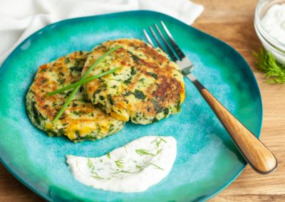 Spinach and Cheddar Potato Cakes