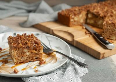 Apple Date Cake with Pecan Streusel