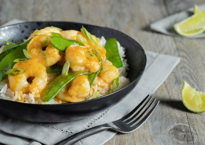 Red Curry Coconut Shrimp