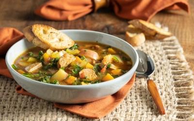 Rustic Potato and Sausage Soup