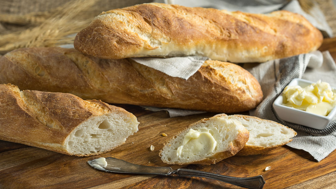Easy Homemade Baguettes
