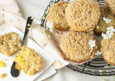 Whole Wheat Peach Streusel Muffins