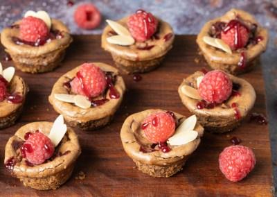 Keto Chocolate Raspberry Cheesecake Bites