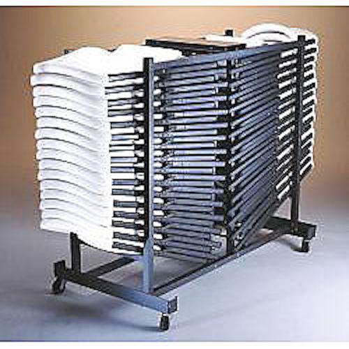 lifetime folding chair cart 6525 storage rack