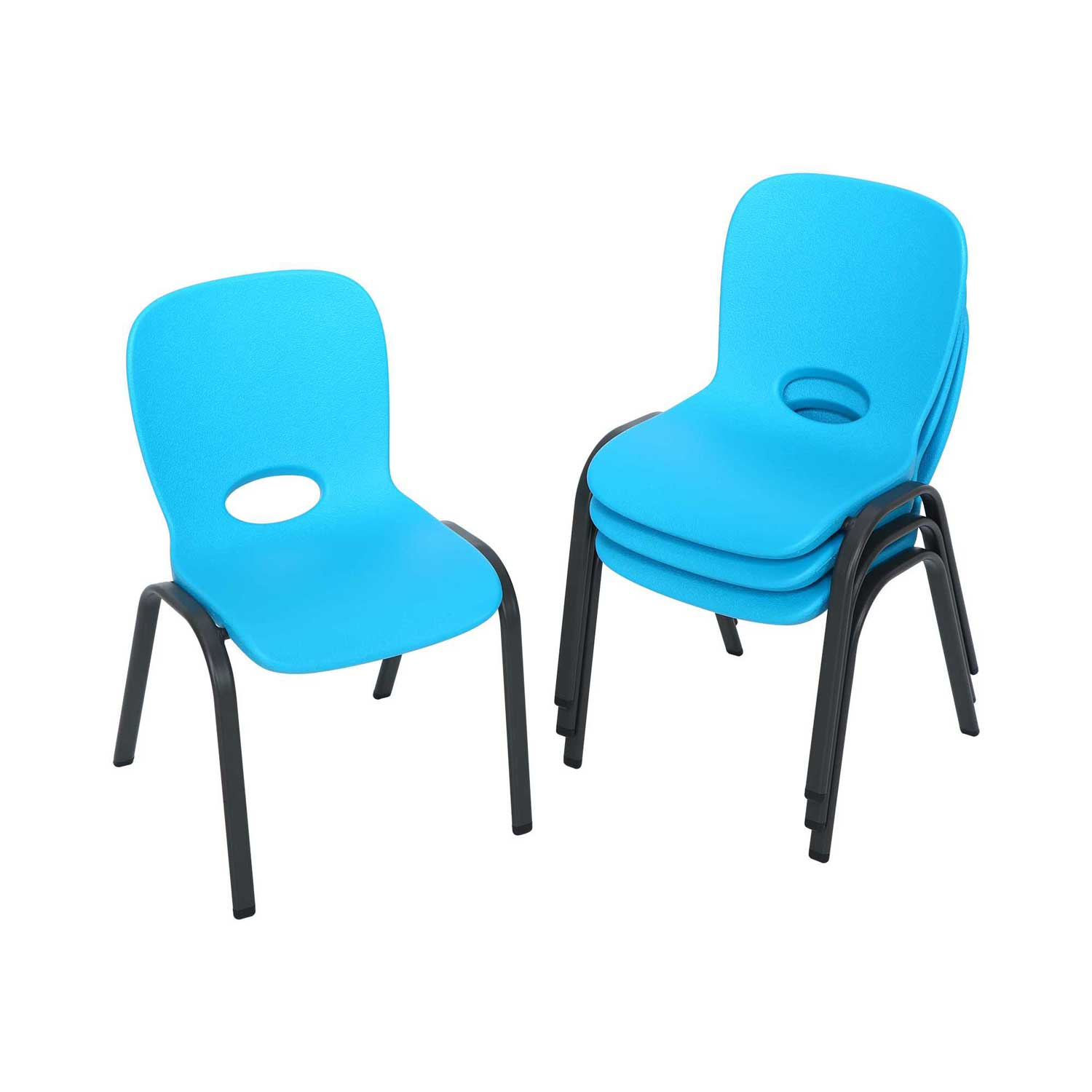 Lifetime Children S Stacking Chairs 80472 4 Pack Glacier Blue