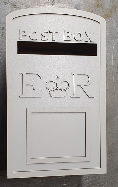 White wedding post box