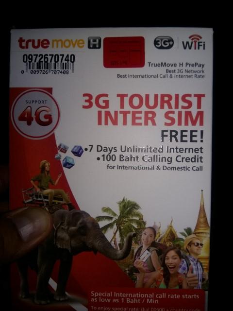 Internet en Tailandia, SIM TrueMove H
