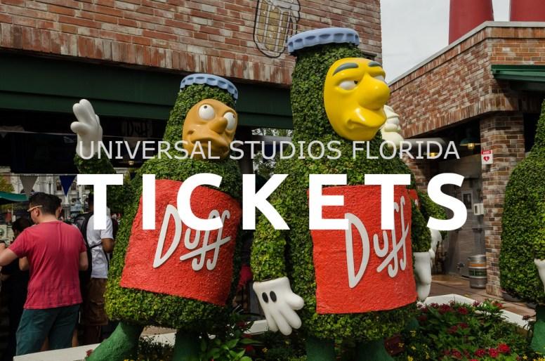 Tickets Universal Studios Florida
