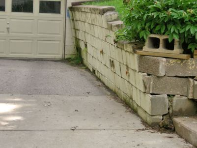tilting retaining wall