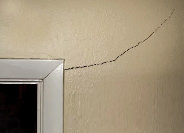 Corner cracks interior upper right frame