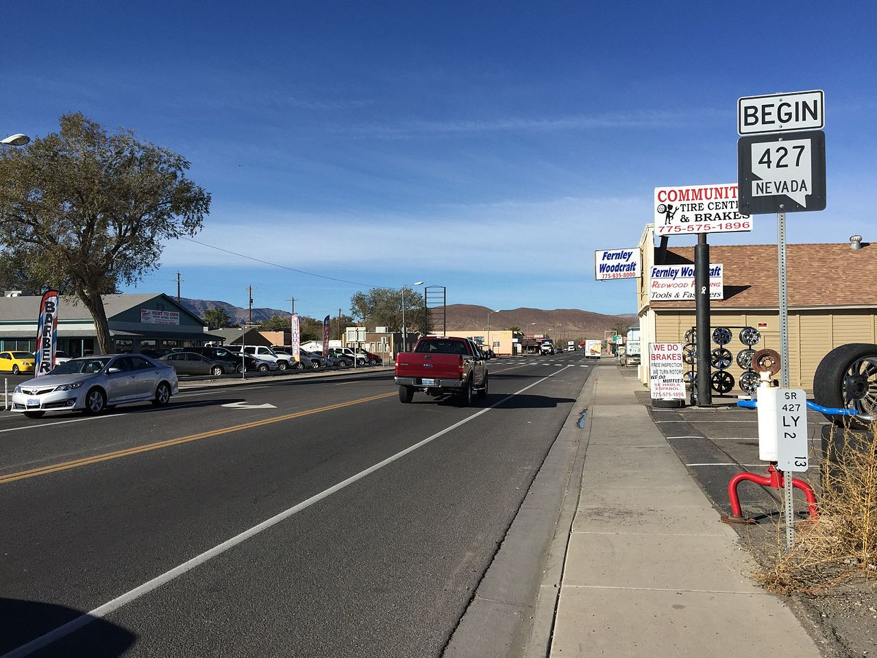 2015-10-30_10_09_36_View_west_along_Main_Street_(Nevada_State_Route_427)_in_Fernley,_Nevada