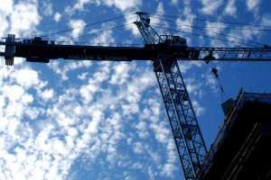 crane near block of flats