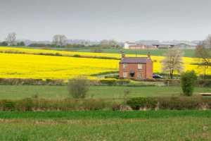 landlocked property in field