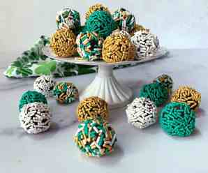 Creamy Chocolate Truffles for St Patrick's Day