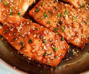 Garlic Salmon Recipe with Honey
