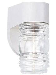 White Plastic Exterior Light Fixture For Outside Mobile