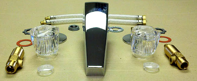 how to change mobile home bathtub faucet