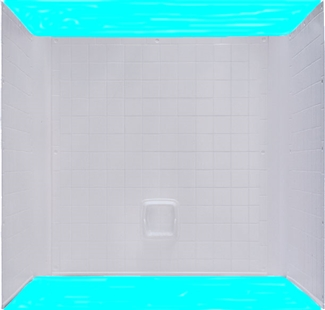 54x27 One Piece ABS Tile TubShower Surround