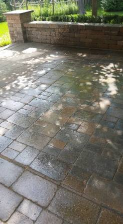 Franklin Paver Patio and Sitting Wall