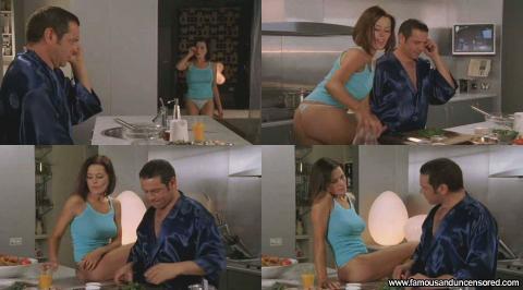 Madeleine West Nude Sexy Scene Kitchen Thong Panties Actress