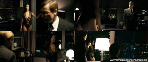 Maggie Q Nude Sexy Scene Deception Apartment See Through Hat