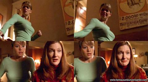 Erica Durance Smallville Stairs Shirt Gorgeous Babe Female