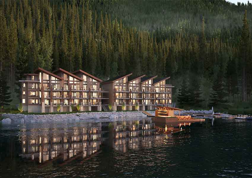 a architects rendering of Cultus Lake Development.