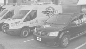 A photo of Complete security installs work trucks.