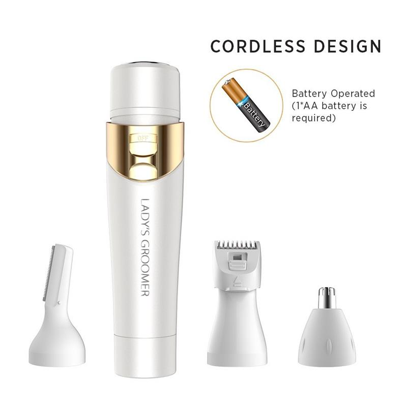 4 In 1 Flawless Womens Painless Hair Removal Electric