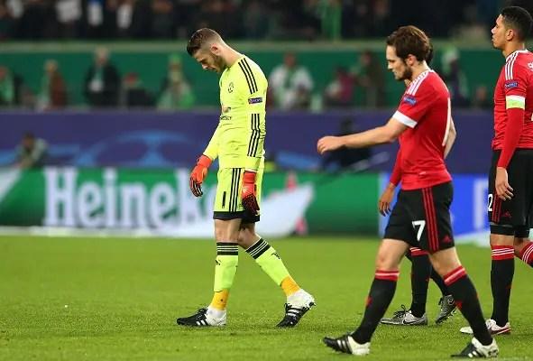 UCL: United Lose To Wolfsburg, Crash Out As PSV Edge CSKA