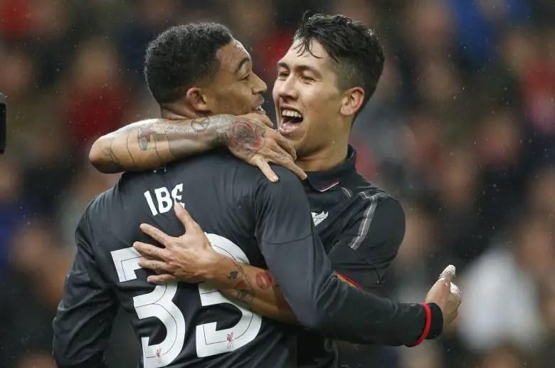 Ibe Strike Gives Liverpool Capital One Edge Over Stoke