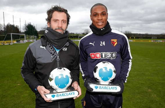 Ighalo, Flores Win EPL Player, Coach Of The Month Awards