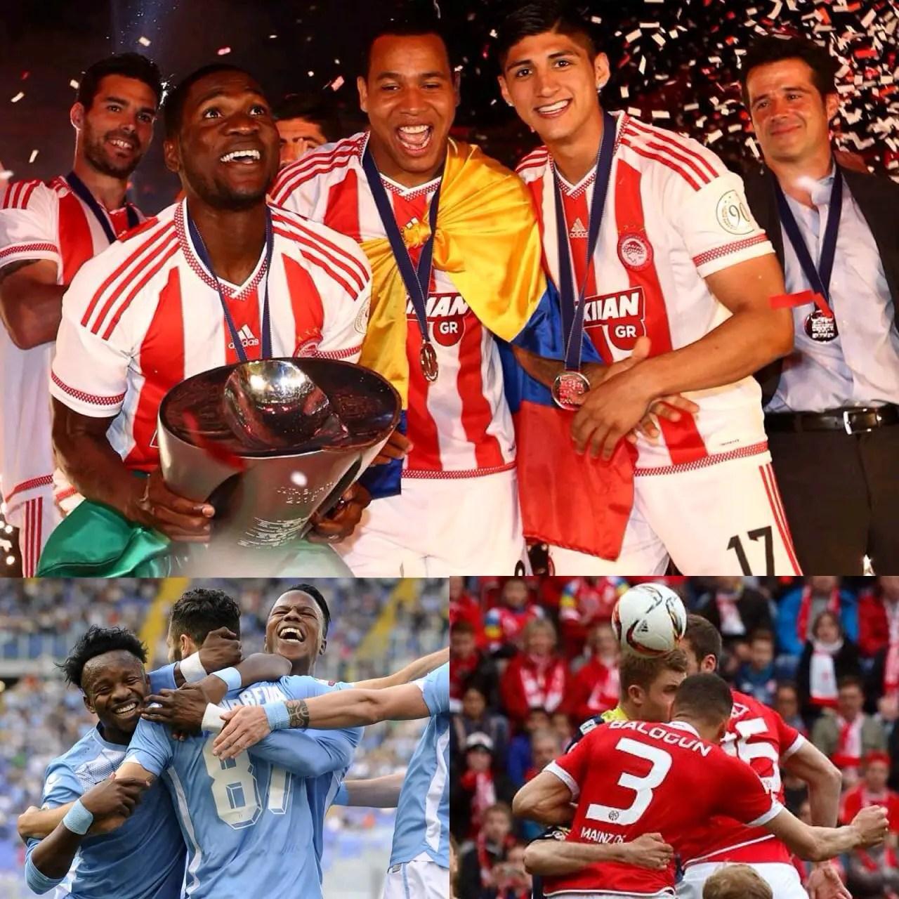 Ideye Scores, Celebrates 43rd Title With Olympiakos; Onazi, Balogun, Amuzie Also On Target