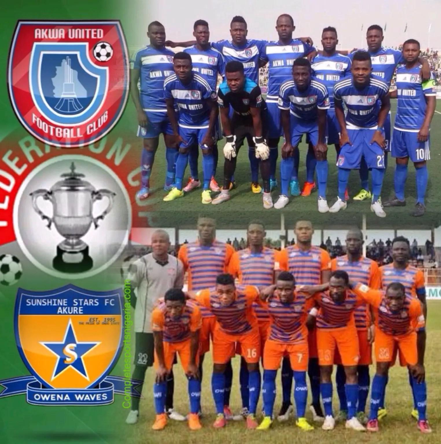 Fed. Cup: Akwa v Sunshine Ignites Q/Final Crackers; 3SC Face Rivers United