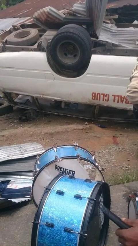 TRAGEDY: Akwa United Fans In Road Crash, One Dies