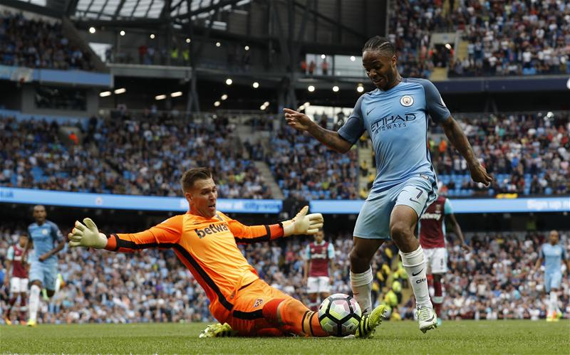 Sterling Hits Brace, Iheanacho Benched As City Go Top